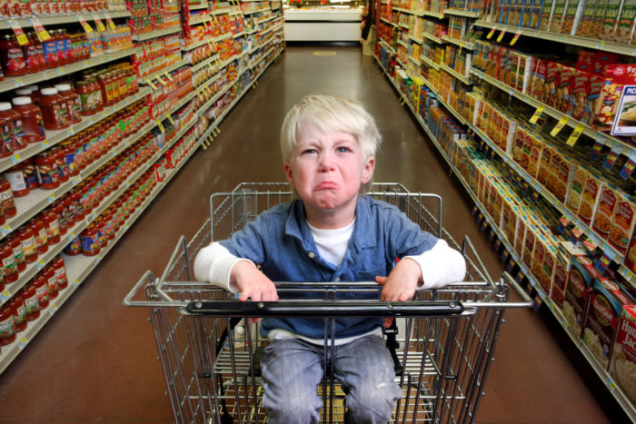 capriciile copilului tau in magazin