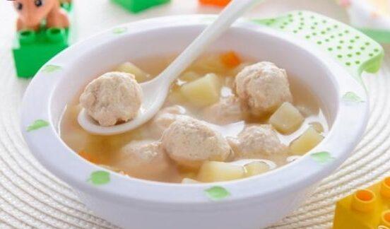 supa cu carne de porc la copii