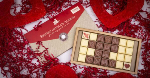 mesaj din ciocolata