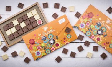 mesaj din ciocolata premium