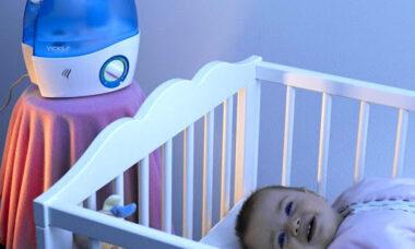 umidificator in camera bebelusului